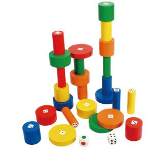 例)ドキドキ円柱「サイコロ積み木」