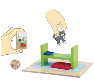例)「モンティを探せ!」ゲーム